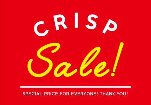 Crisp WINTER SALE 50%~30%OFF! [ 2019.1.1tue START ]