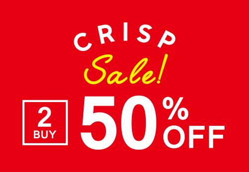 【Crisp各店】2BUY50%OFF & PRICE DOWN!