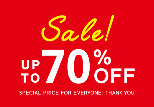 【Crisp各店・ONLINE SHOP】FINAL SALE!ALL70%OFF!!