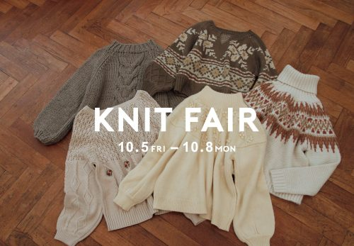 KNIT FAIR 10%OFF [ 10.5fri~10.8mon ]