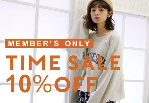 【ONLINE SHOP】MEMBERS TIME SALE  [ 9.28fri 12:00 ~ 10.1mon 11:59 ]