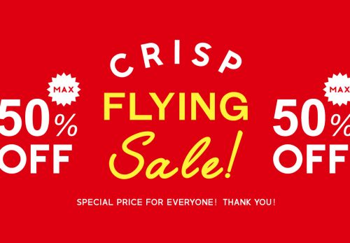 FLYING SALE max50%OFF! [ 2018.12.21fri start ]