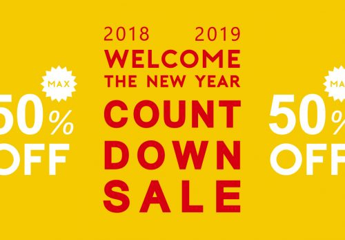 COUNT DOWN SALE max50%OFF! [ 2018.12.25tue start ]